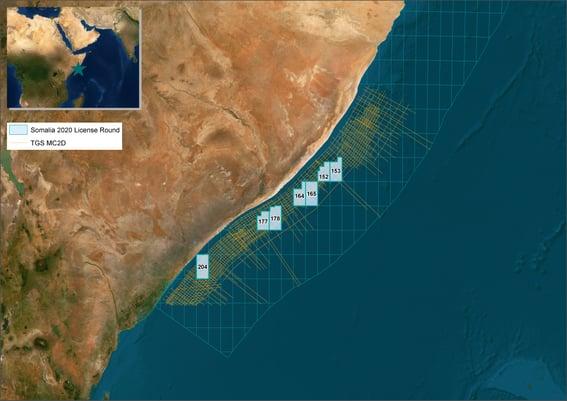 Somalia 2020 license round data and blocks map